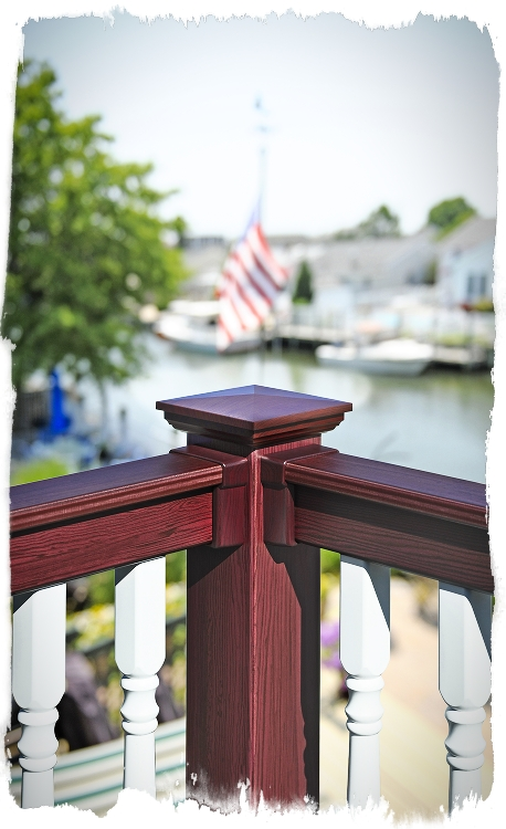 color and wood grain pvc railing
